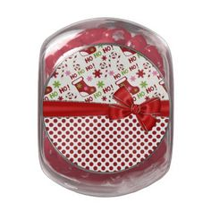 Christmas Stocking HO HO HO Glass Jar #Christmas #jar #Customize #red #stockings #candy