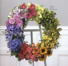 Flowerama Columbus offers the best selection of Sympathy Flowers in Ohio. We have casket flowers, standing funeral sprays, funeral wreaths and more. Church Flowers, Funeral Flowers, Wedding Flowers, Arrangements Funéraires, Funeral Flower Arrangements, Funeral Sprays, Corona Floral, Funeral Tributes, Memorial Flowers