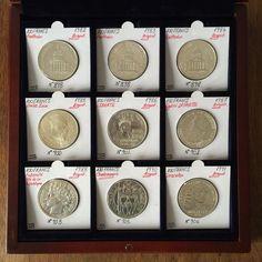 Lot de 9 Pièces de Monnaie de 100 Francs en Argent dans Coffret de Présentation