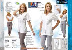 Casaca Modelo DANA y Pantalón modelo ALISON: 2 modelos, 2 tejidos y 2 precios diferentes... http://www.rolanuniformes.es/uniformes-sanitarios/rolan-dr-blue-technical-medical/