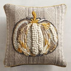 Chunky Pumpkin Gray Pillow from Pier 1 Imports Pumpkin Pillows, Fall Pillows, Grey Pillows, Throw Pillows, Best Pillows For Sleeping, Small Sewing Projects, Fall Halloween, Halloween Ideas, Fall Crafts