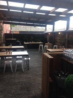 Rear courtyard @mamajays after renovations