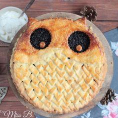 Miss Blueberrymuffin's kitchen: Niedlicher Eulen Pie mit Blaubeeren