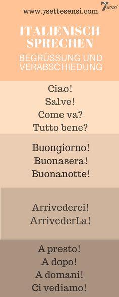 Italienisch lernen: gängige Ausdrücke für die Begrüßung und Verabschiedung auf Italienisch
