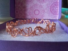 Copper wire bangle