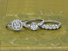 ethical diamond rings from Brilliant Earth's Belle Époque collection