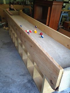 A Largerthanlife Pool Table Mimicked A Game Of Soccer One Of - Life size pool table