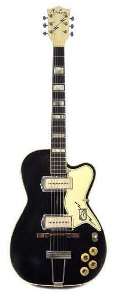 para los amantes de las guitarras aqui esta un modelo  ,ya clasico la famosa AIRLINE Barney Kessel Pro 1950s Black disfrutenla. ,jluis