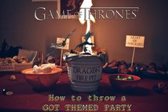 How to throw a Game of Thrones themed Party like I did. I share some tips and tricks to host a Feast for Crows even if you are on a budget. Happy Name Day, Happy Names, Dragon Fire Pit, A Feast For Crows, Game Of Thrones Party, Dungeons And Dragons Dice, Dragon Dies, Got Party, How To Make Labels