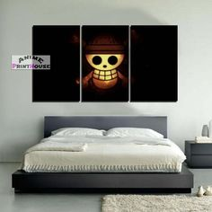 One Piece canvas painting wall decor. One Piece canvas prints are great for your room. Check on our online store the full One Piece canvas collection! One Piece Merchandise, Naruto Merchandise, One Piece Logo, Room Planning, Diy Room Decor, Home Decor, Death Note, Christmas Art, Canvas Art Prints