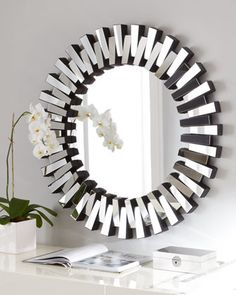 Mingling Slats Mirror - Neiman Marcus