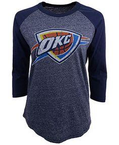 Majestic Women's Three-Quarter-Sleeve Oklahoma City Thunder Raglan T-Shirt - Sports Fan Shop By Lids - Men - Macy's
