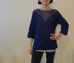 I wrote the pattern for the Sideways sweater a few years back, and wanted to make a new version based on the design with solid double crochet stitches. But then I thought just rows upon rows of double crochet stitches would be too plain to look at and too boring to make, so here's what I came up with :D