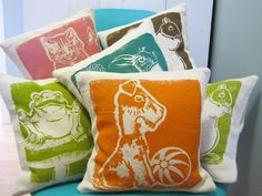 Patterned Throw Pillows by Erin Flett