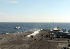 F-18's cat launch