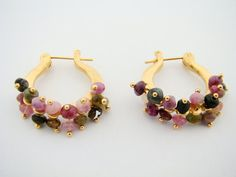 Gold plated earrings by StefansJewelry on Etsy