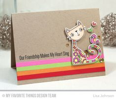 Purr-fect Friends Stamp Set and Die-namics - Lisa Johnson  #mftstamps