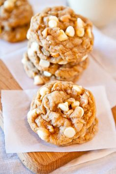 Soft & Chewy Peanut Butter Oatmeal White Chocolate Cookies