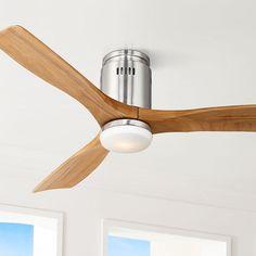 52 Possini Euro Design Admiralty Brushed Nickel Ceiling Fan