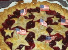 Here's my Triple Cherry Pie - perfect for July 4th parties.
