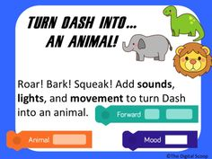 Kindergarten: Dash and Dot Robots:  Changing Dash Challenges