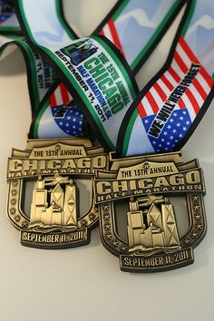 Chicago Half Marathon Chicago Half Marathon, Trophies And Medals, Sports Medals, Virtual Run, Running Medals, Half Marathons, Royalty Free Photos, Birthday Wishes
