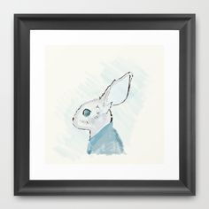 Rabbit in a suit Framed Art Print by emdesigns Framed Art Prints, Rabbit, Suits, Rabbits, Outfits, Suit, Bunny, Men's Suits, Business Suits