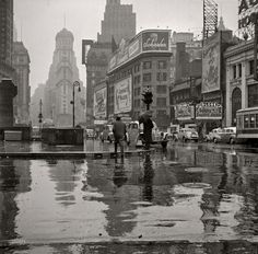 Times Square in the Rain, New York, March 1943