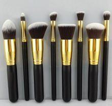 Alta calidad de tres colores 8 unids maquillaje cepillos cosméticos fundación Blending de cepillo del maquillaje Kit Set maquillaje herramienta de madera(China (Mainland))