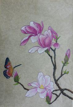 마른듯한 나뭇가지에 보송보송 솜털 꽃눈을 내밀며 따뜻한 햇살을 기다리는 꼬마가 있다. 햇살 따스한 볕이... Fabric Painting, Fabric Art, Watercolor Flowers, Watercolor Paintings, Korean Painting, Nature Sketch, Illustration Art Drawing, Art Drawings Beautiful, Arts And Crafts Movement