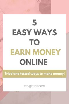 5 Ways to make money online // Making money online is a number one source of income for many bloggers, millennials and entrepreneurs. If you want to be debt free, increase your income or just want extra money, read this blog post now for 5 tested ways to make money online! Don't forget to pin it for later if you're strapped for time now!