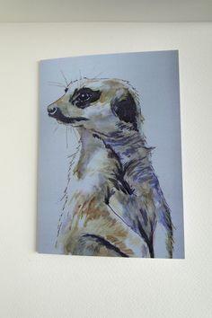 Meerkat Blank Greeting Card From my Original Watercolour Art Painting £2.00