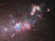 A star-formation laboratory in a dwarf galaxy.