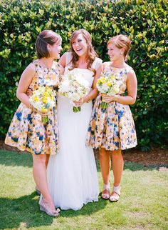 anthropolgie bridesmaids dresses - patterned dresses are awesome!