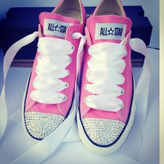 Pink Swarovski Converse (Holeigh s would be purple - Hols) Converse Shoes a5cc6f0c72