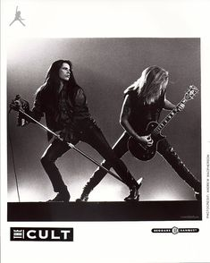 Ian Astbury and Billy Duffy 'Sonic Temple' Press Photo for The Cult Rock N Roll, Classic Rock And Roll, Ian Astbury, 80s Rock Bands, Jim Morrison Movie, Seattle, Dark Circus, Grunge Art, Cult