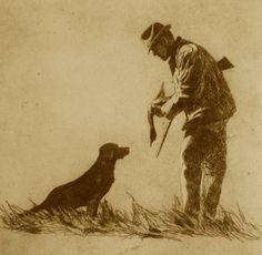 """Good Dog"" etching by Brett J Smith Hunting Lodge Decor, Hunting Crafts, Hunting Art, Hunting Dogs, Quail Hunting, Pheasant Hunting, Wildlife Paintings, Wildlife Art, Duck Hunting Tattoos"