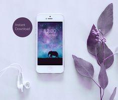 Elephant Silhouette Phone Wallpaper - Instant Digital Download von TerraSomniaArt auf Etsy Fantasy Kunst, Etsy, Iphone, Wallpaper, Photo Library, Elephant Silhouette, Original Paintings, Wallpaper Backgrounds, Wallpapers