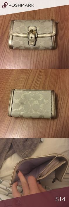 Golden coach wallet Has a mark that could be washed out Coach Bags Wallets