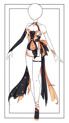 Anime Outfits, Cosplay Outfits, Manga Clothes, Drawing Anime Clothes, Pretty Outfits, Cool Outfits, Fashion Outfits, Dress Design Drawing, Clothing Sketches
