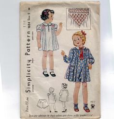 1930s Vintage Sewing Pattern Simplicity by historicallypatterns