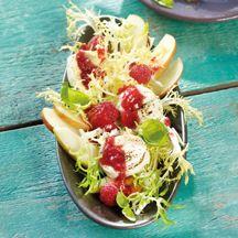Frisée-Himbeer-Salat mit Ziegenkäse PP 7