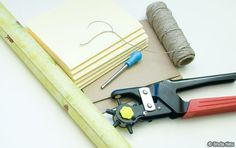 Coptic stitch tutorial for bookbinding. Must remind myself to also get: self-adhesive paper, awl, and hole puncher.
