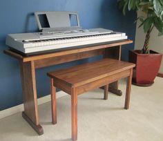 Custom Keyboard Stand and Bench.  Steady & stylish.