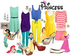 Princess Outfits #Princess #Disney #Fashion