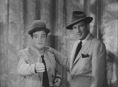 """Bud Abbott (right) and Lou Costello from the 1950's """"ABBOTT & COSTELLO SHOW"""". Lou's real name was Louis Francis Cristillo  and Bud's was William."""