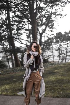via LookBook Long Trench Coat, Business Fashion, Hipster, My Style, Hipsters, Hipster Outfits, Office Fashion