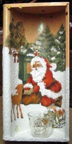 4 Servietten ~ Relaxed Christmas Santa Winter Schneemann  Serviettentechnik