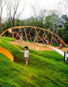 The Basic Principles of Landscape Design Landscape Design Small, Park Landscape, Landscape Architecture, Origami Architecture, Playground Design, Outdoor Playground, Cool Playgrounds, Plaza Design, Small Backyard Landscaping