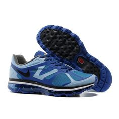 the best attitude 04bfe 889f4 Nike Air Max 2012 Mens Blue Black